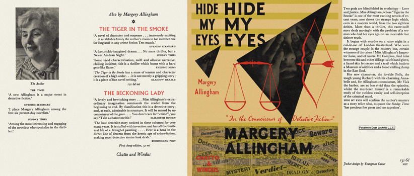 Hide My Eyes by Margery Allingham on Facsimile Dust Jackets, LLC