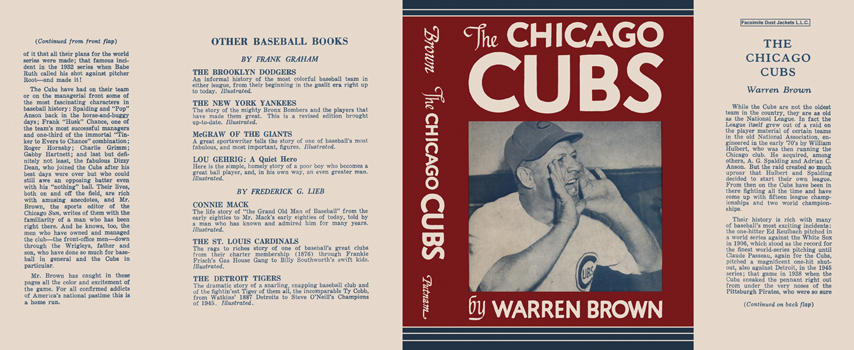 Chicago Cubs, The. Warren Brown.