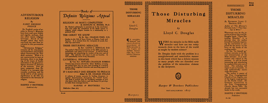 Those Disturbing Miracles. Lloyd C. Douglas