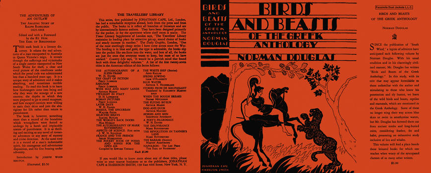 Birds and Beasts of the Greek Anthology. Norman Douglas