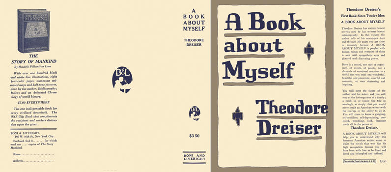 Book About Myself, A. Theodore Dreiser