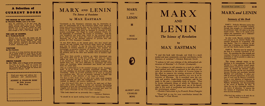Marx and Lenin: The Science of Revolution. Max Eastman