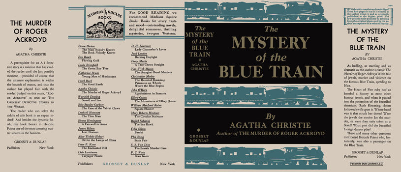Mystery of the Blue Train, The. Agatha Christie