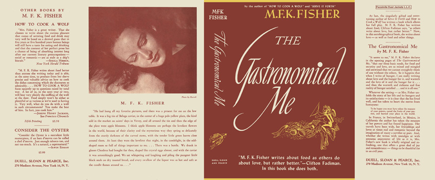 Gastronomical Me, The. M. F. K. Fisher