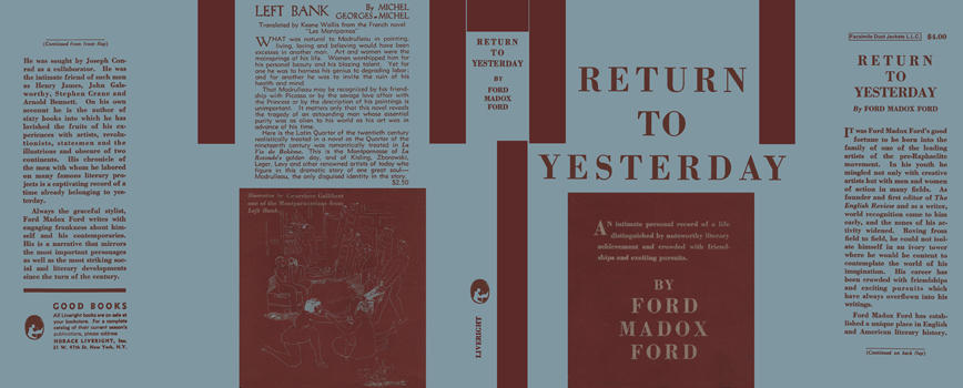 Return to Yesterday. Ford Madox Ford