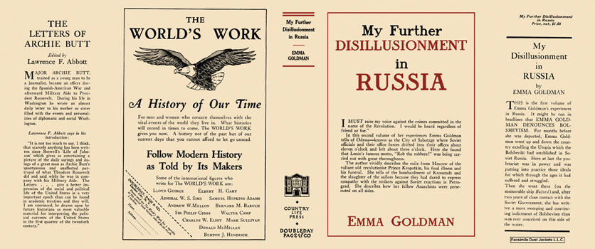 My Further Disillusionment in Russia. Emma Goldman.