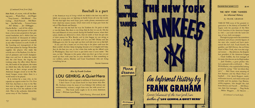 New York Yankees, The. Frank Graham.