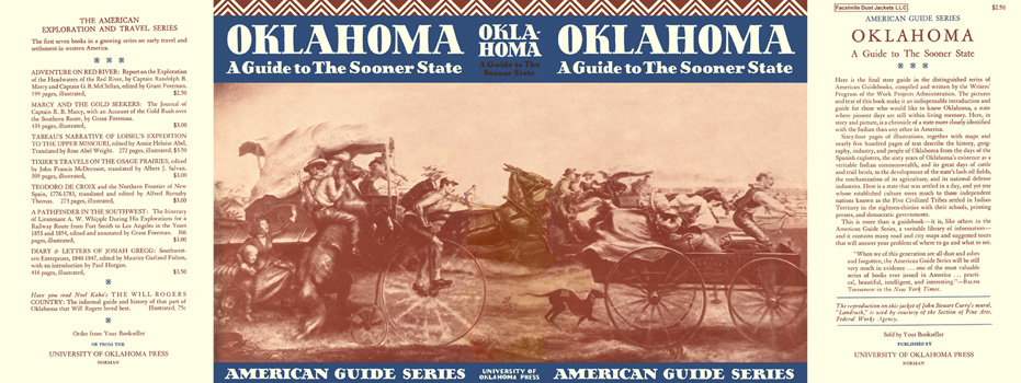 Oklahoma, A Guide to The Sooner State. American Guide Series, WPA