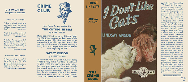 I Don't Like Cats. Lindsay Anson.