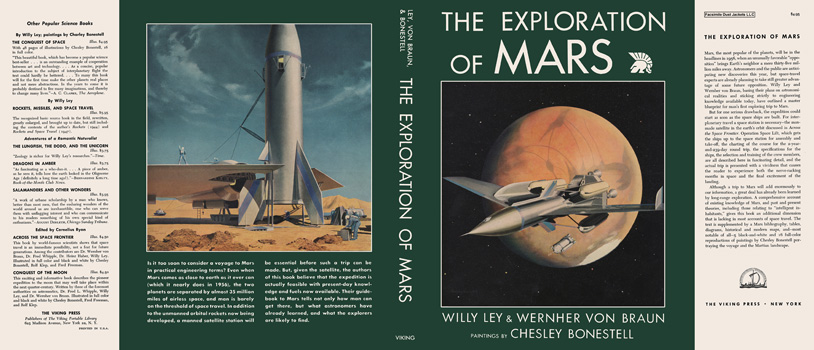 Exploration of Mars, The. Willy Ley, Wernher Von Braun, Chesley Bonestell