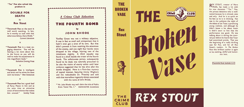 Broken Vase, The. Rex Stout