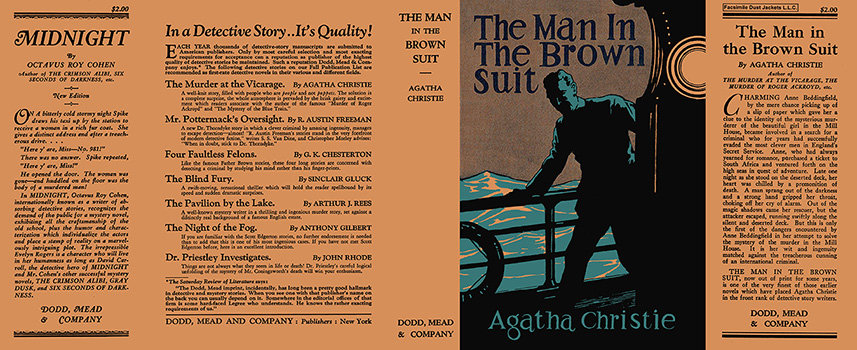 Man in the Brown Suit, The. Agatha Christie.