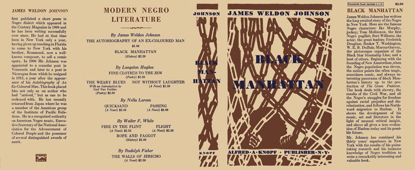 Black Manhattan. James Weldon Johnson.