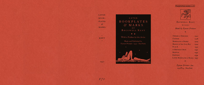 Later Bookplates and Marks of Rockwell Kent 1937. Rockwell Kent.