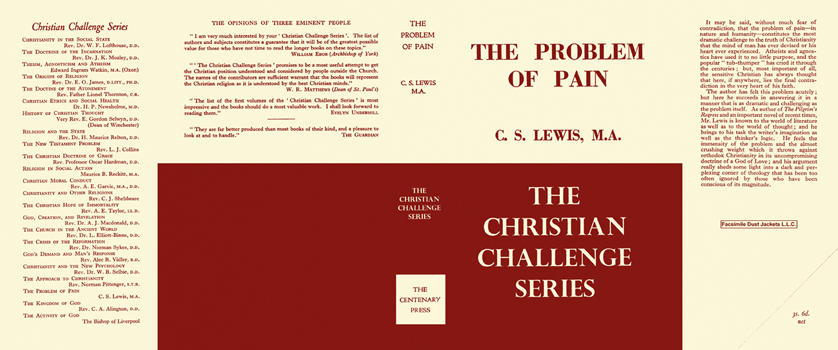 Problem of Pain, The. C. S. Lewis.