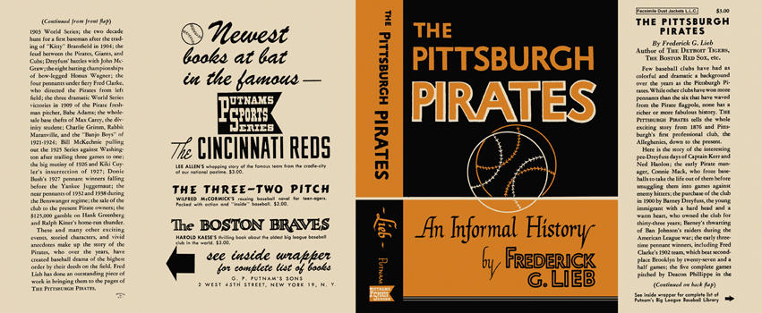 Pittsburgh Pirates, The. Frederick G. Lieb.