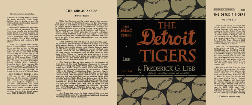 Detroit Tigers, The. Frederick G. Lieb