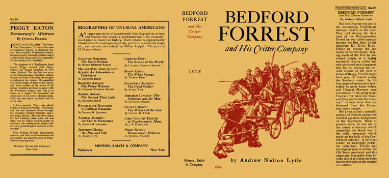 Bedford Forrest and His Critter Company. Andrew Nelson Lytle.