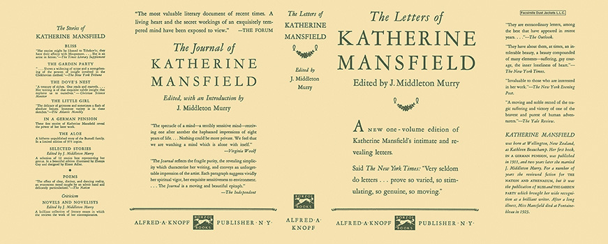 Letters of Katherine Mansfield, The. Middleton Murry