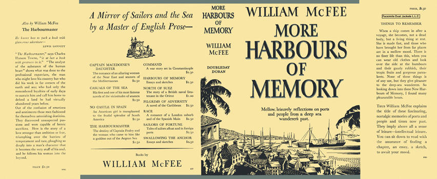 More Harbours of Memory. William McFee.