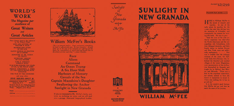 Sunlight in New Granada. William McFee.