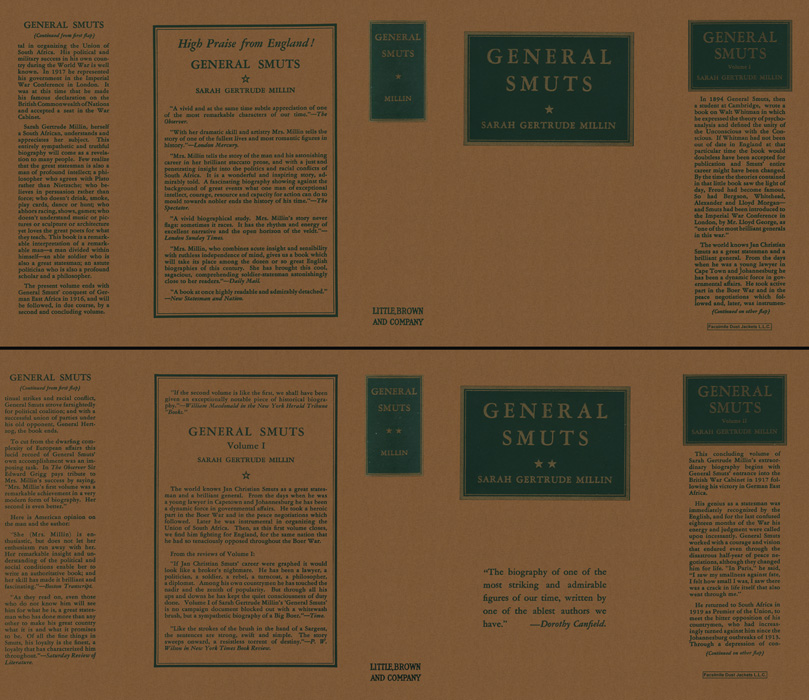 General Smuts (volumes 1 and 2). Sarah Gertrude Millin