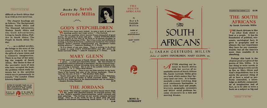South Africans, The. Sarah Gertrude Millin.