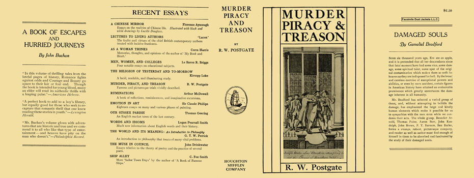 Murder, Piracy, and Treason. Raymond Postgate.