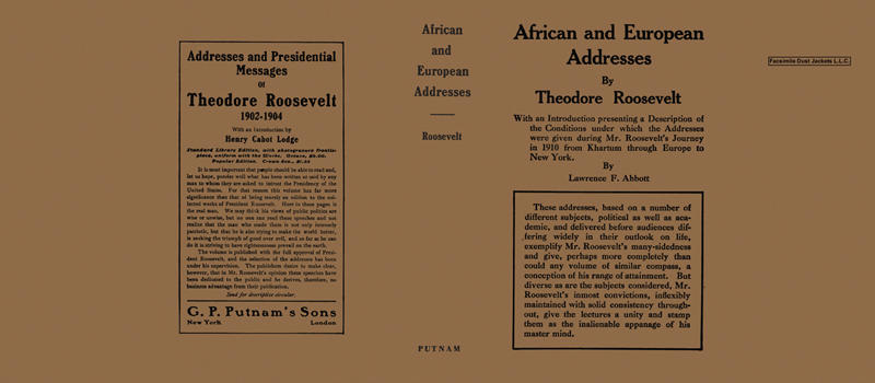 African and European Addresses. Theodore Roosevelt