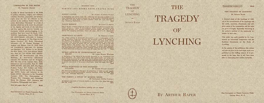 Tragedy of Lynching, The. Arthur Raper