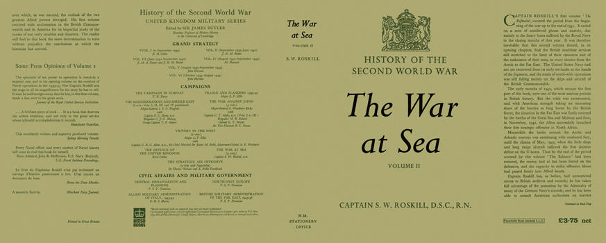 War at Sea: Volume 2, The. Captain S. W. Roskill