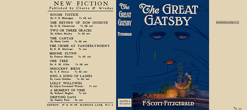 Great Gatsby, The. F. Scott Fitzgerald