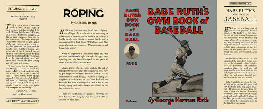 Babe Ruth's Own Book of Baseball. George Herman Ruth.