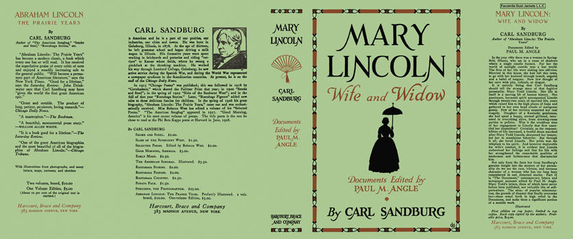 Mary Lincoln, Wife and Widow. Carl Sandburg