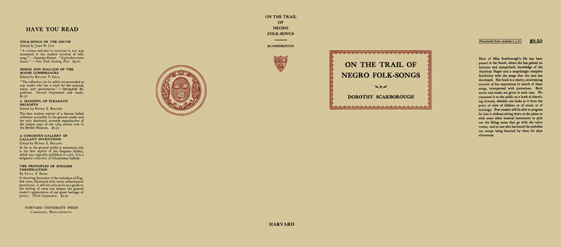 On the Trail of Negro Folk-Songs. Dorothy Scarborough