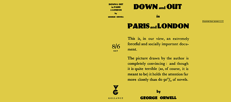 Down and Out in Paris and London. George Orwell