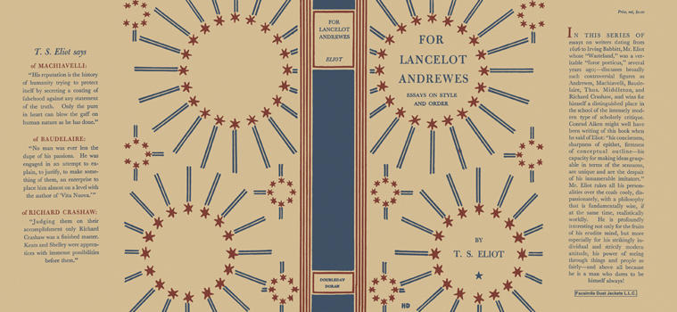 For Lancelot Andrewes, Essays on Style and Order. T. S. Eliot