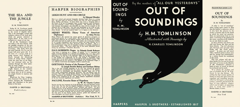 Out of Soundings. H. M. Tomlinson