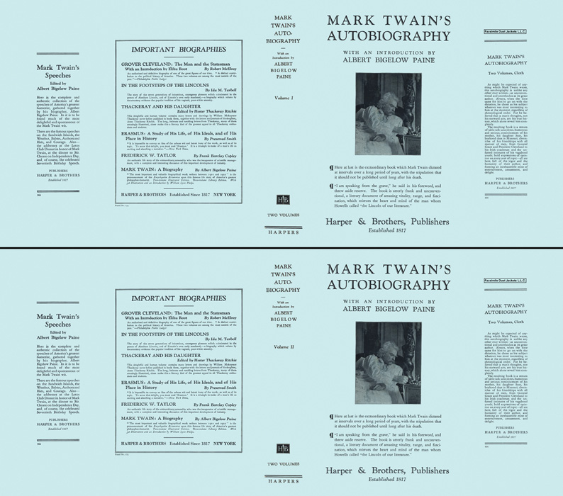 Mark Twain's Autobiography (volumes 1 and 2). Mark Twain