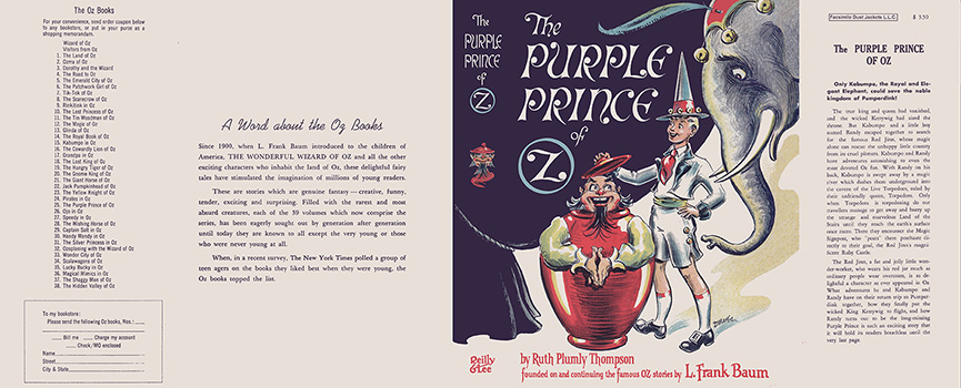 Purple Prince of Oz, The. Ruth Plumly Thompson, Dick Martin