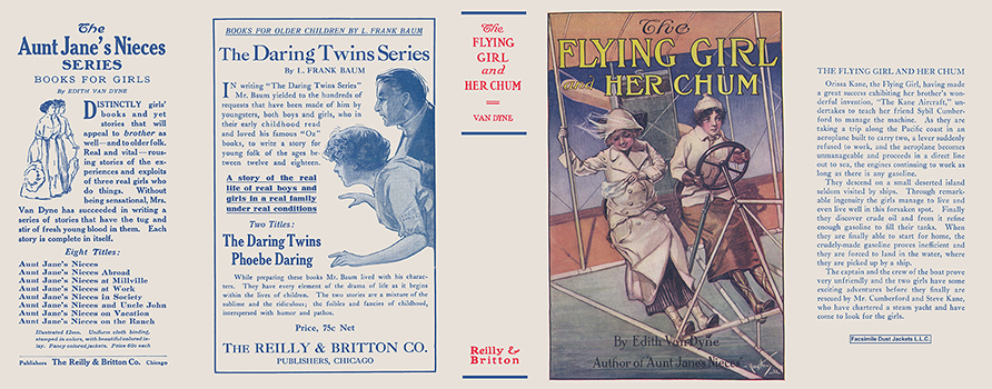 Flying Girl and Her Chum, The. Edith Van Dyne, L. Frank Baum.