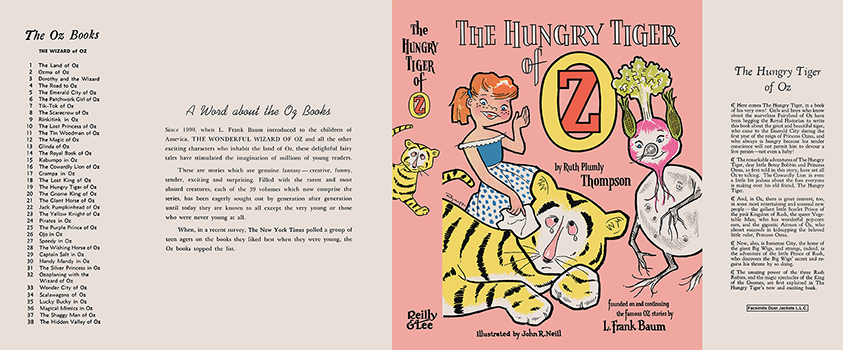 Hungry Tiger of Oz, The. Ruth Plumly Thompson, John R. Neill, Roland Roycraft