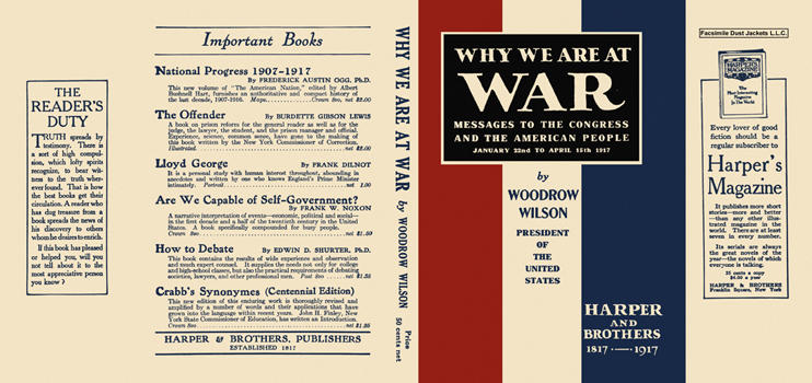 Why We Are at War. Woodrow Wilson