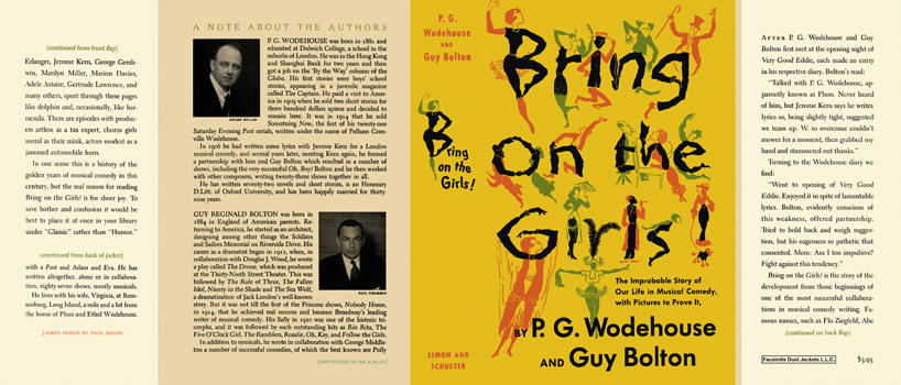 Bring on the Girls! by P  G  Wodehouse, Guy Bolton on Facsimile Dust  Jackets, LLC