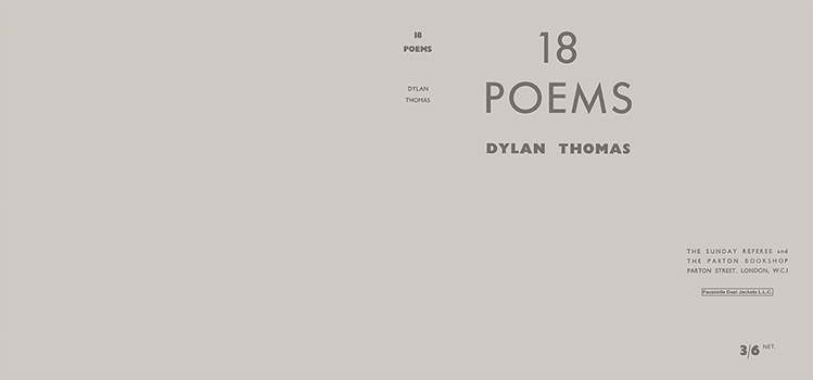 18 Poems. Dylan Thomas.