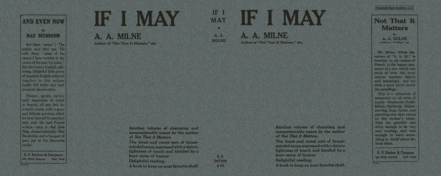 If I May. A. A. Milne.