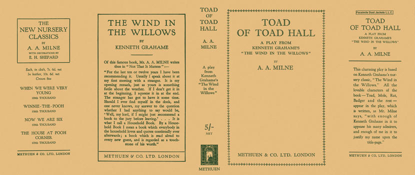 Toad of Toad Hall. A. A. Milne.