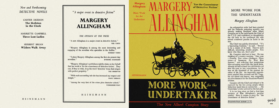 More Work for the Undertaker. Margery Allingham