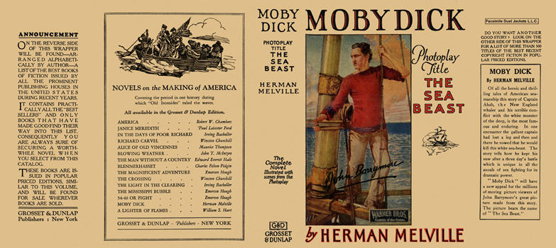 "Moby Dick (photoplay title ""The Sea Beast""). Herman Melville."