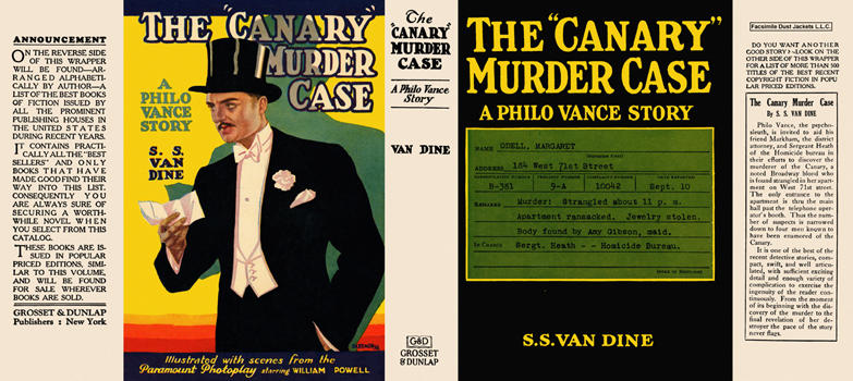 """Canary"" Murder Case, The. S. S. Van Dine"